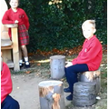 Our story chair, in loving memory of a good friend