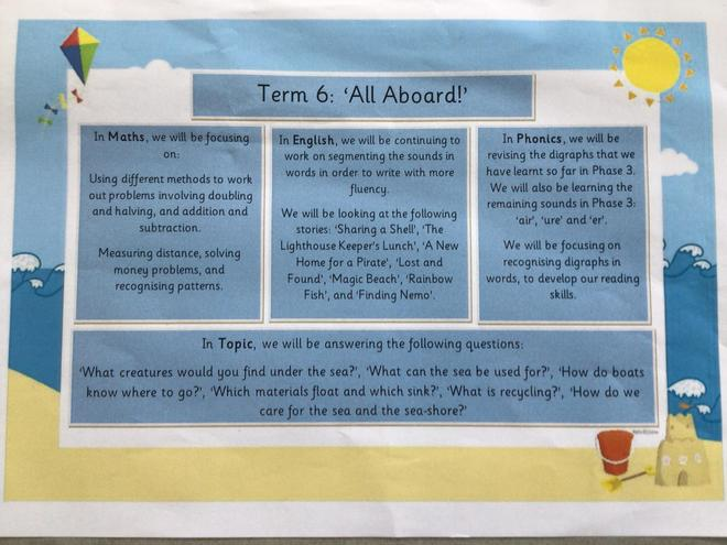 Learning overview for term 6