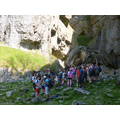 Gordale Scar in the shade for lunch.