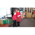 We read a firework poem aloud to the class.