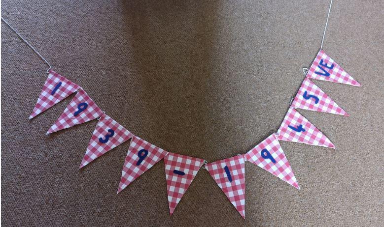 Mrs Abbot created this using fabric