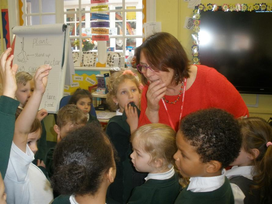 Patrice Baldwin works with year 1