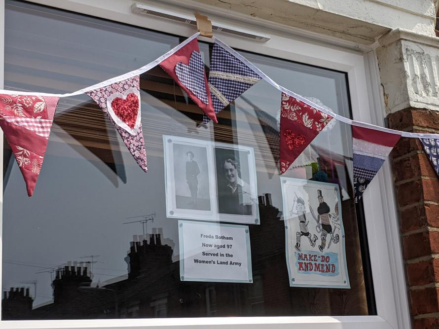 bunting by Ruth Crossley and art work by Keira