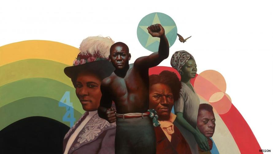 Illustration for the front cover of The Undefeated, painted by Kadir Nelson