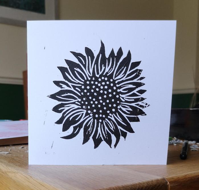 Lino print by Mrs Abbott