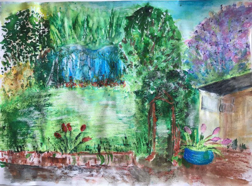'My Garden' mixed media by Mrs Brewer