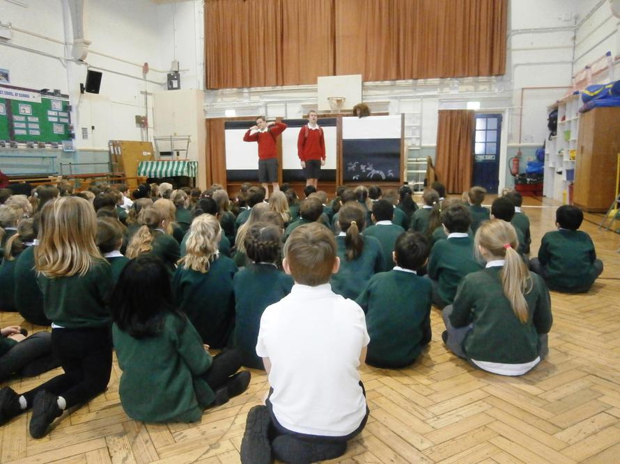 Year 3 and 4 watch 'A True Story'