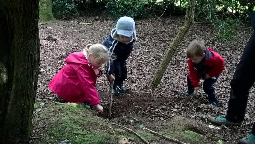 Exploring a burrow