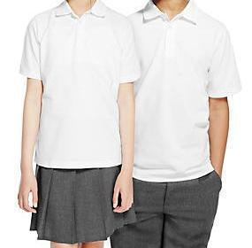 Collared shirt polo OR formal style WHITE