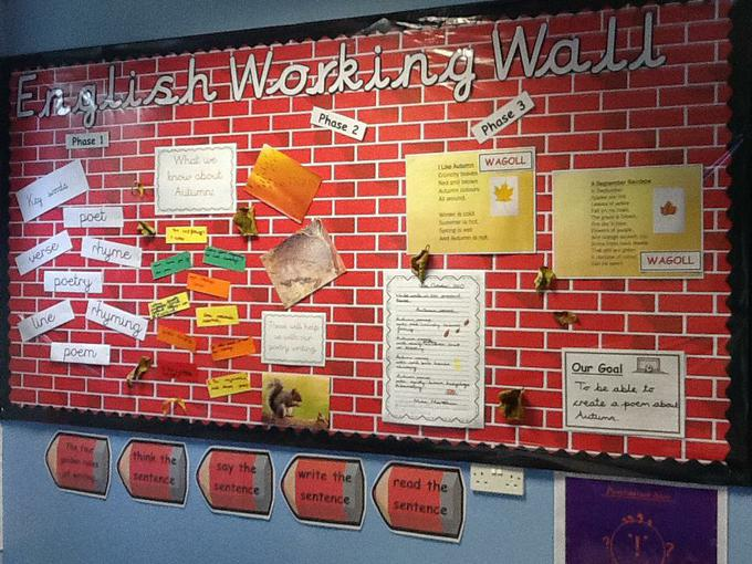 Our working wall helps us.