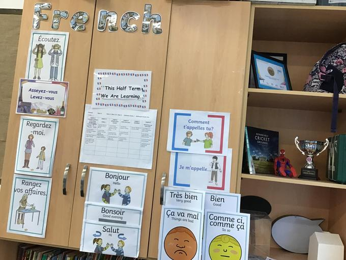 French Classroom Display