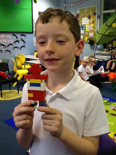 Adam made a model of Guy Fawkes out of Lego!