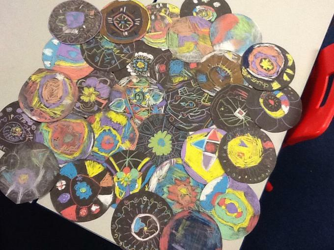 Our fantastic Rangoli patterns!