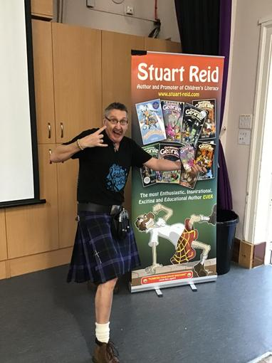 The author Stuart Reid visited