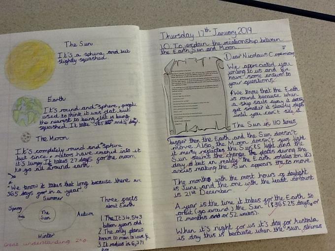 Harriet's Super Science Explanation Letter
