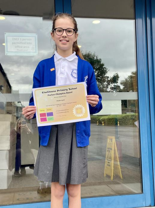 Phoebe L (Australia) Nurture Champion Award