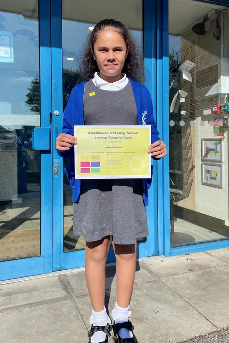 Lacey C (Fiji) Learning Champion Award