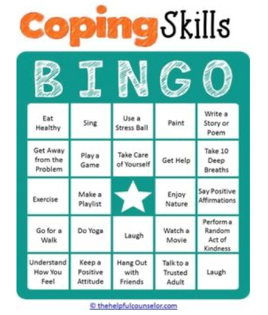 Coping Skills Bingo