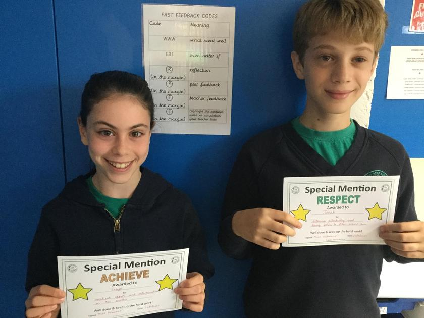 Well done to our Special Mentions this week!