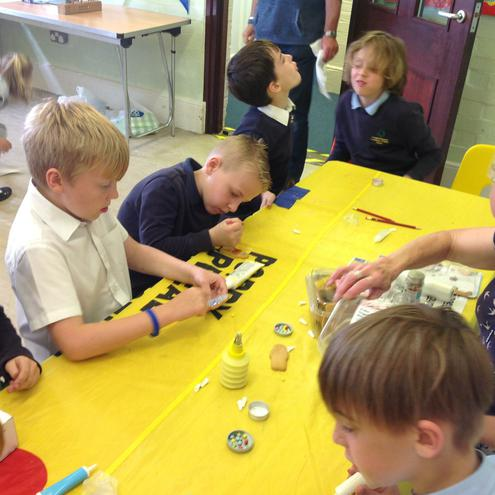 Messy Church comes to school