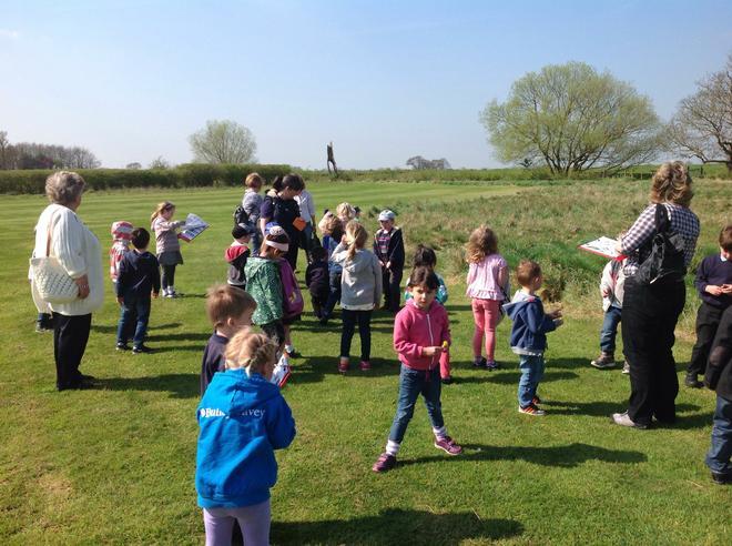 Willow children start their tour of the farm.
