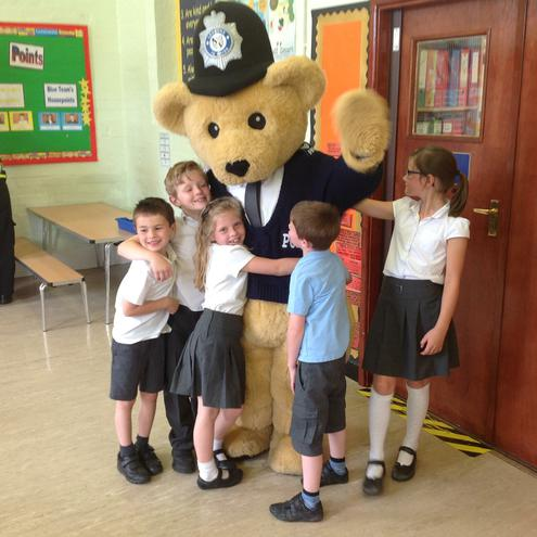 Bobby Bear visits on CSI Day