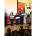 Our three winners and their prizes
