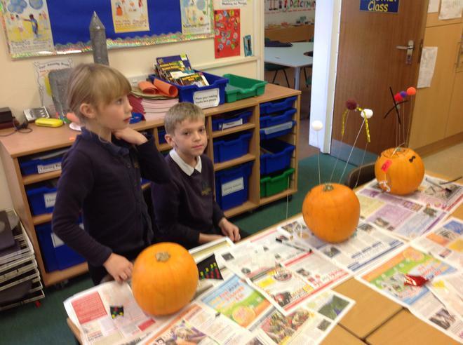 Designing pumpkins for Hallowe`en