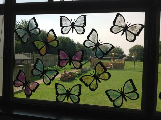 Beautiful butterflies courtesy of Miss Verney
