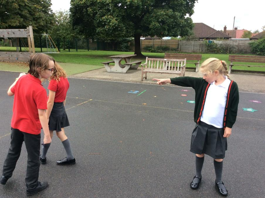 We created freeze frames around friendship