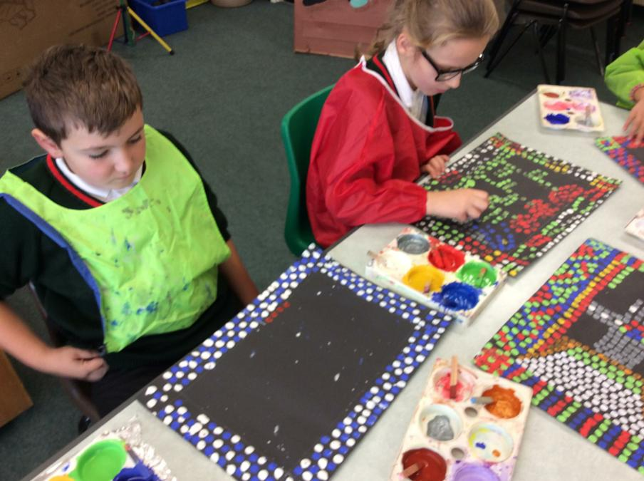 We created Roman mosaics