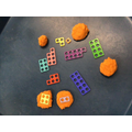 Making patterns in sensory dough