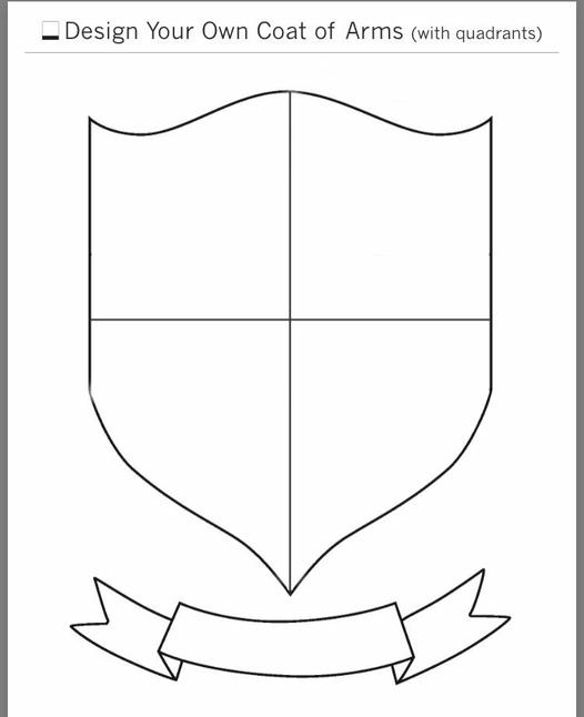 Coat of Arms outline template