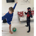 A footballer and a Superhero