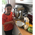 Making Lemon Drizzle Cake