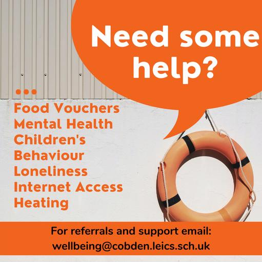 wellbeing@cobden.leics.sch.uk