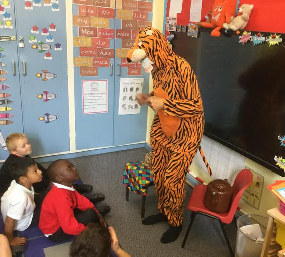 Here is the Tiger who came to Cobden!