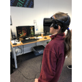 Enjoying the VR headset!