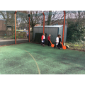 Measuring the MUGA using trundle wheels