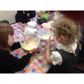Making the batter was fun Y2
