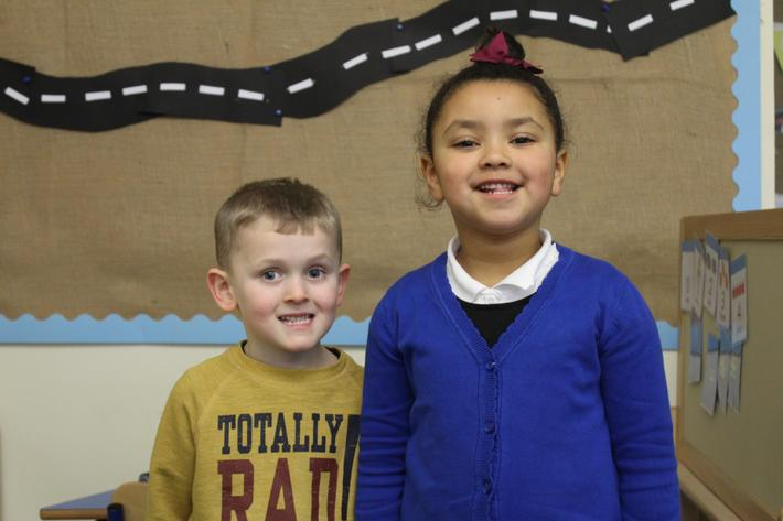 Reception Pupils of the term. Devlin and Neveah