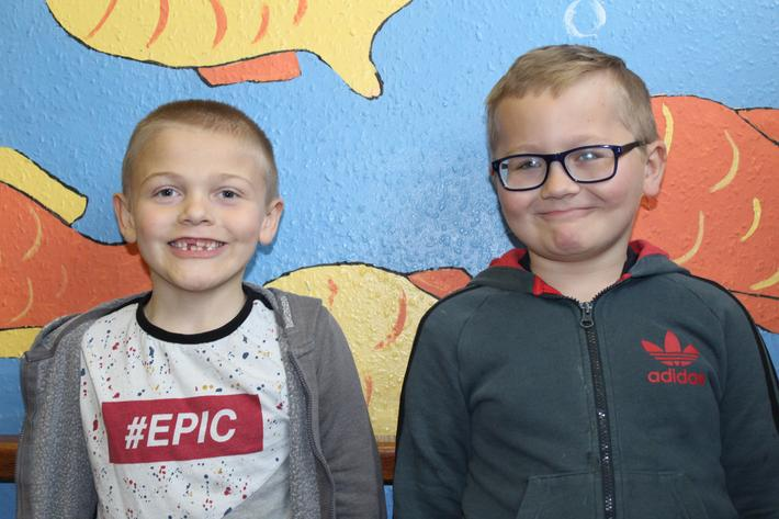 Year 3 Pupils of the term. Cody and Harvey