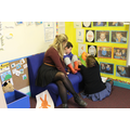 Caitlan read to a Reception pupil