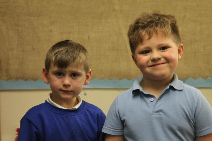 Year 1 Pupils of the term. Jacob and Ronnie