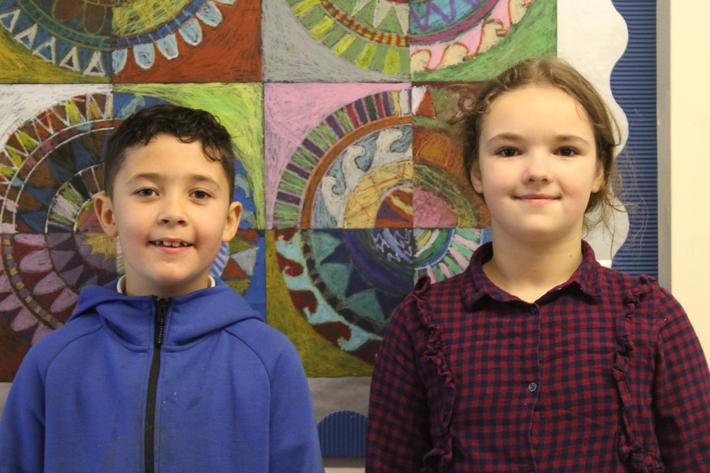 Year 3 pupils of the term. Tyler and Laila