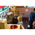 Ruby helped Nursery pupils in the Home Corner
