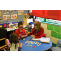 Spencer helped Reception pupils with numbers