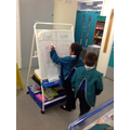 Some children recorded their findings from the floating and sinking challenge.