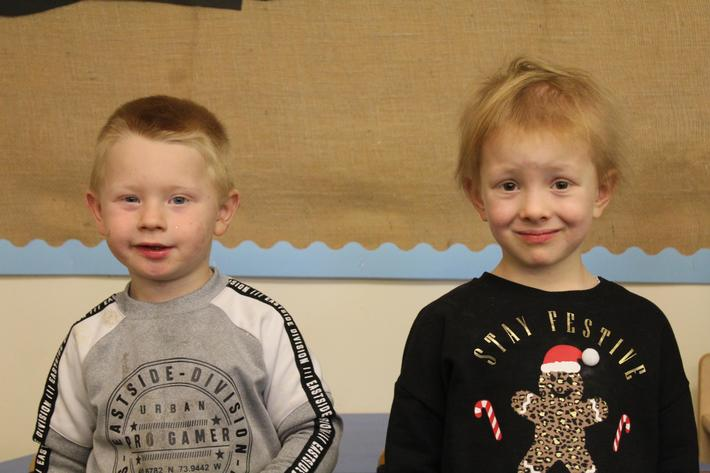 Nursery Pupils of the term. Devon and Leoni