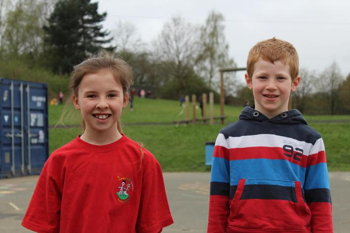 Year 4 Pupils of the term. Gracie and Thomas